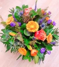 12-bouquet rond coloré